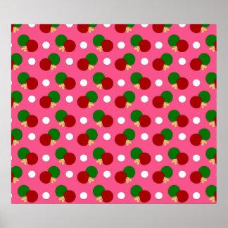 Modelo rosado del ping-pong impresiones