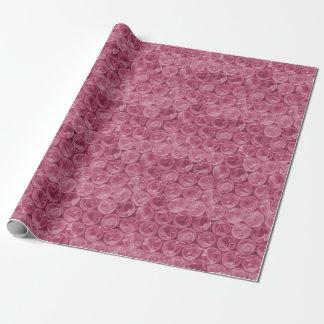 Modelo rosado del plástico de burbujas papel de regalo