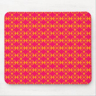 Modelo rosado del rizo mouse pad