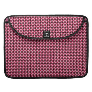 Modelo rosado del tablero de damas del punto fundas para macbooks