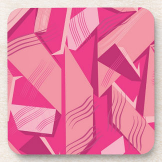 Modelo rosado del vector posavaso