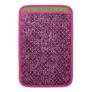 Modelo rosado del vitral del diamante funda macbook air