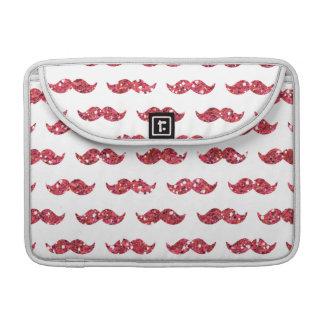 Modelo rosado divertido del bigote del brillo impr fundas para macbook pro