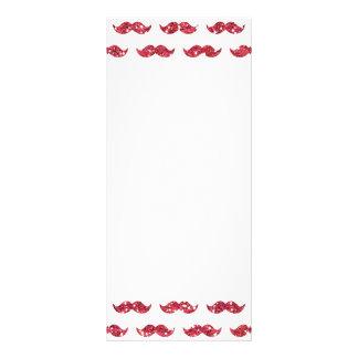 Modelo rosado divertido del bigote del brillo impr diseño de tarjeta publicitaria