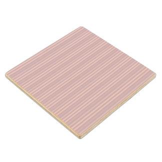 Modelo rosado dulce de las rayas verticales posavasos de arce