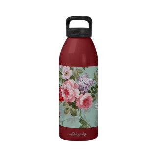 Modelo rosado elegante de los rosas del vintage botellas de agua reutilizables