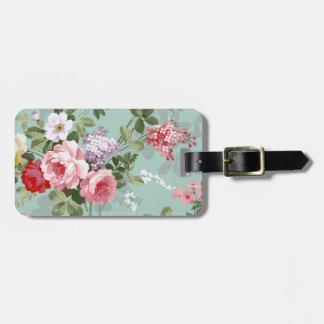 Modelo rosado elegante de los rosas del vintage etiquetas maleta