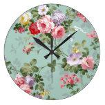 Modelo rosado elegante de los rosas del vintage relojes