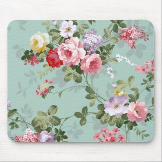 Modelo rosado elegante de los rosas del vintage tapetes de raton