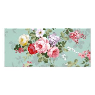 Modelo rosado elegante de los rosas del vintage diseño de tarjeta publicitaria