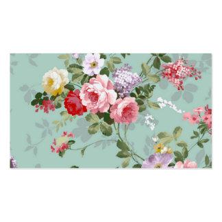 Modelo rosado elegante de los rosas del vintage tarjetas de visita