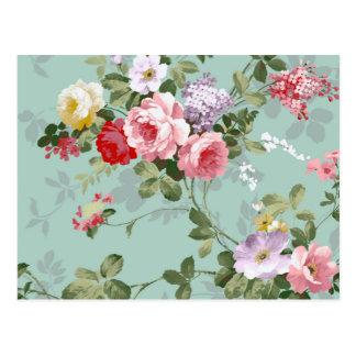Modelo rosado elegante de los rosas del vintage tarjetas postales