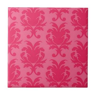 modelo rosado elegante del damasco de dos tonos azulejo cuadrado pequeño