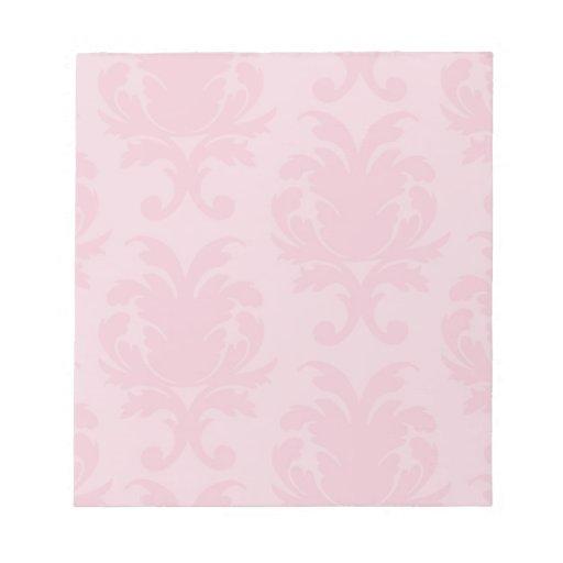 modelo rosado elegante del damasco de dos tonos bloc de notas