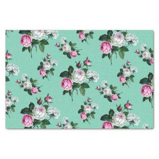 Modelo rosado elegante lamentable de los rosas papel de seda pequeño