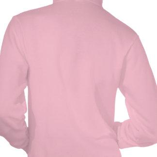Modelo rosado enrrollado del flamenco de Paisley Sudadera