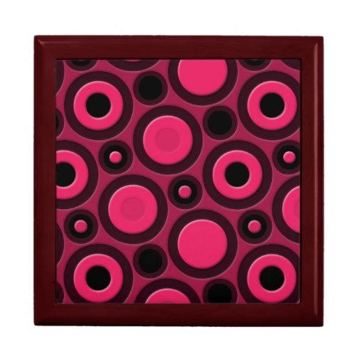 Modelo rosado enrrollado retro joyero cuadrado grande