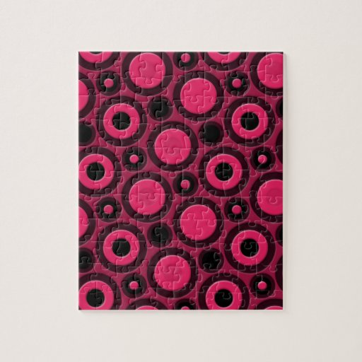 Modelo rosado enrrollado retro puzzle