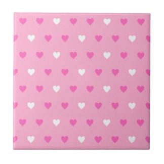 Modelo rosado especial del corazón azulejo cuadrado pequeño