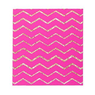 modelo rosado feliz del brillo del oro del zigzag  blocs