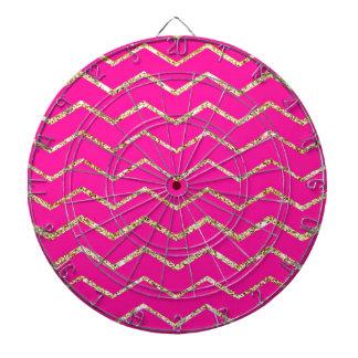 modelo rosado feliz del brillo del oro del zigzag  tablero dardos