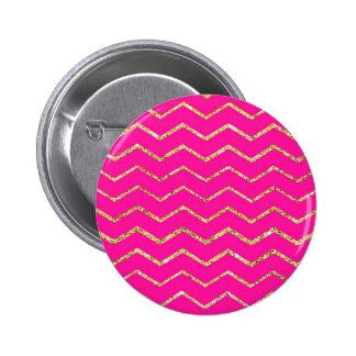 modelo rosado feliz del brillo del oro del zigzag  pins