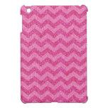 Modelo rosado femenino de Chevron del zigzag del b iPad Mini Fundas