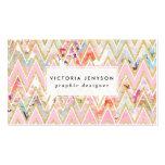 Modelo rosado floral del galón del oro de la tarjetas de visita