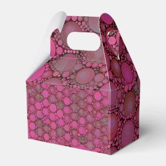 Modelo rosado fluorescente de la burbuja caja para regalos
