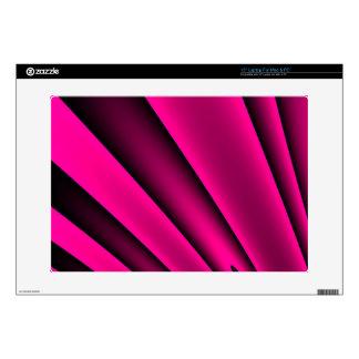 Modelo rosado fluorescente de la raya negra portátil skin