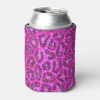 Modelo rosado fluorescente del guepardo enfriador de latas