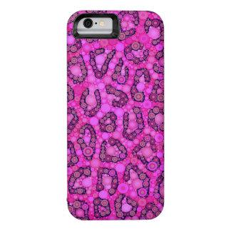 Modelo rosado fluorescente del guepardo funda iPhone 6