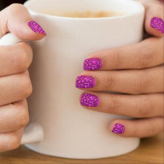 Modelo rosado fluorescente del guepardo pegatinas para uñas