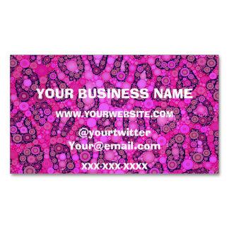 Modelo rosado fluorescente del guepardo tarjetas de visita magnéticas (paquete de 25)