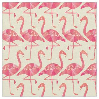 Modelo rosado geométrico bonito de los flamencos telas