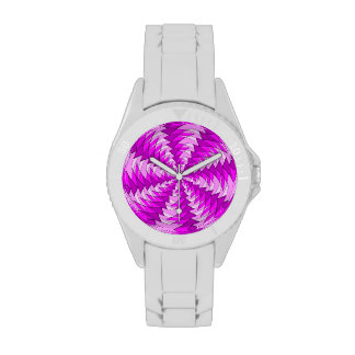 modelo rosado gráfico del remolino reloj de mano