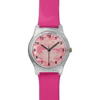 Modelo rosado hermoso de Camo Relojes De Mano