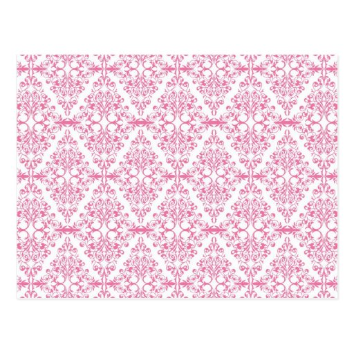 Modelo rosado hermoso de la voluta del diamante tarjetas postales
