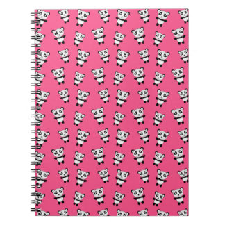 Modelo rosado lindo de la panda libreta espiral