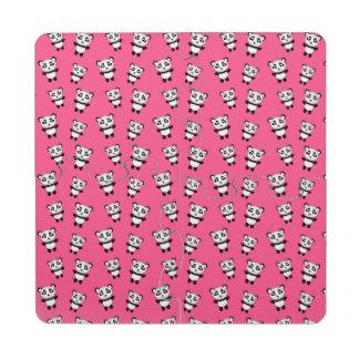 Modelo rosado lindo de la panda posavasos de puzzle