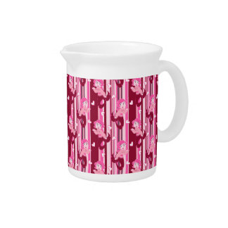 Modelo rosado lindo de la sirena jarra de beber