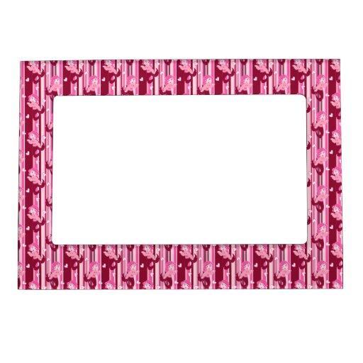 Modelo rosado lindo de la sirena marcos magnéticos
