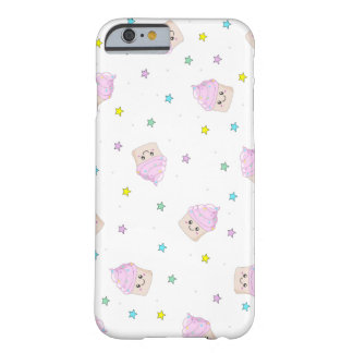 Modelo rosado lindo de las magdalenas funda barely there iPhone 6