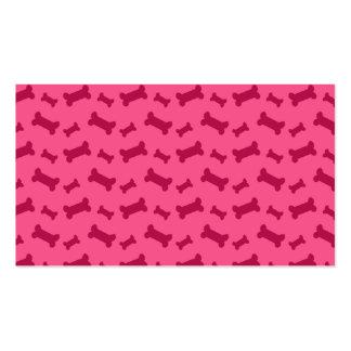 Modelo rosado lindo de los huesos de perro tarjetas de visita
