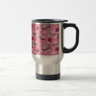 Modelo rosado lindo de los predicadores y de los m taza de viaje de acero inoxidable