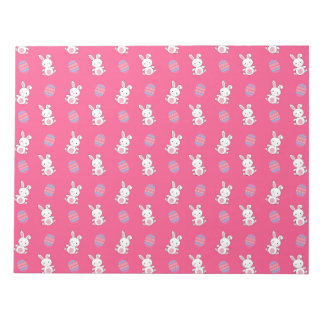 Modelo rosado lindo de pascua del conejito del bloc de papel