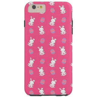 Modelo rosado lindo de pascua del conejito del funda resistente iPhone 6 plus