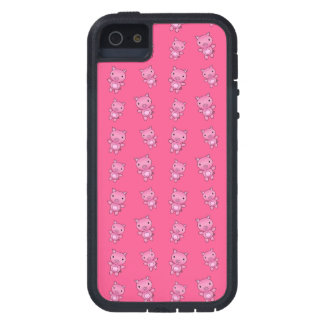Modelo rosado lindo del cerdo iPhone 5 Case-Mate coberturas