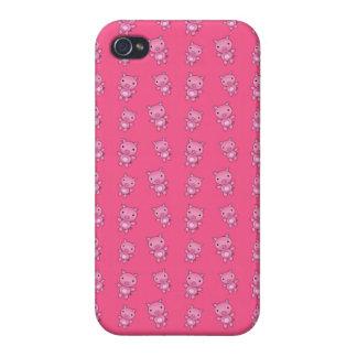 Modelo rosado lindo del cerdo iPhone 4 protector