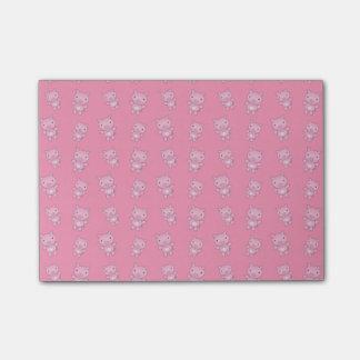 Modelo rosado lindo del cerdo nota post-it